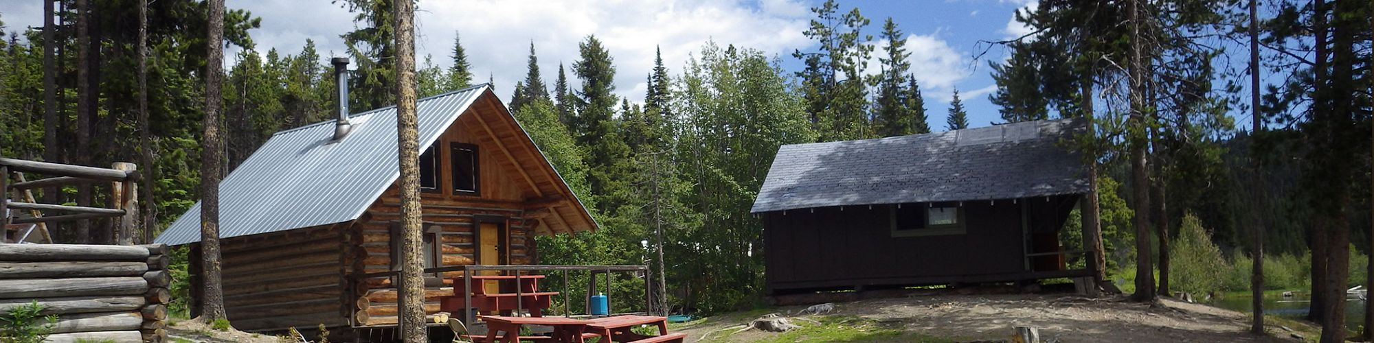 Lakeside cabin camping at headwaters family camp